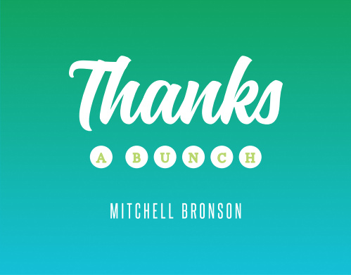 Thank your friends and family for making your birthday celebration one to remember with our Ombre Celebration Milestone Birthday Thank You Cards.