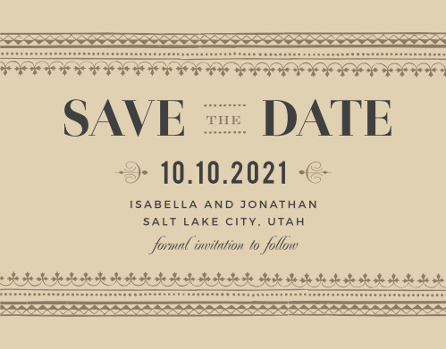 save the date postcards match your colors style free basic invite