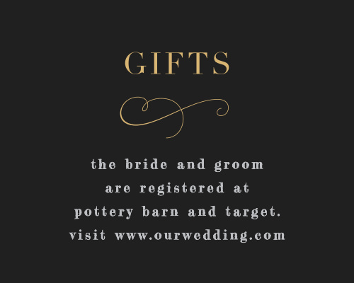 Our Moody Florals Registry Cards pair seamlessly with the rest of your moody florals wedding suite.