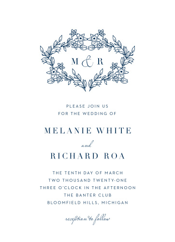 You can be sure that your loved ones will delight in the simple elegance of our Floral Heart Wedding Invitations.