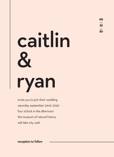 Affordable wedding invitations match your color style free minimal type wedding invitations stopboris Images
