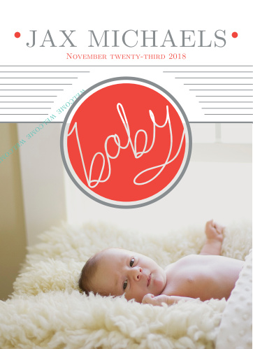 The Baby Button is a classy way to announce the newest member of your family!
