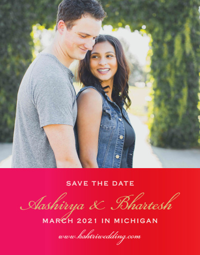 Our India Ombre Save the Date Cards are a perfectly gorgeous way to announce the special day.