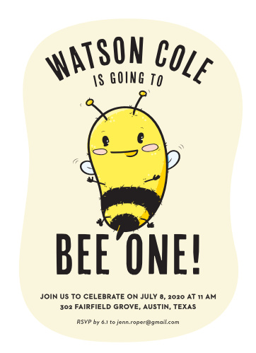 Classy birthday invitations match your color style free little bee childrens birthday party invitations filmwisefo