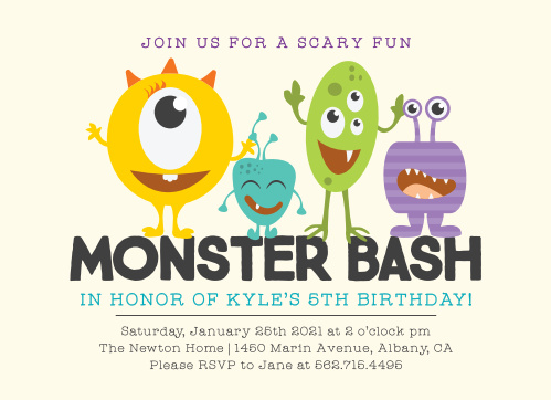 Have your friends and family join you for monster bash in honor of your little one!