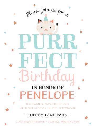 Kids birthday invitations kids birthday party invites basic invite purrfect kitten childrens birthday party invitations filmwisefo