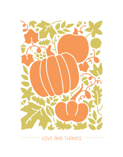 Our Little Pumpkin Children's Birthday Party Thank You Cards are the perfect way to say thanks.