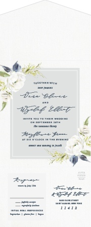 The Oil Paint Textured  Seal & Send Wedding Invitations are a vintage marvel! Personalize them online with real time previews!