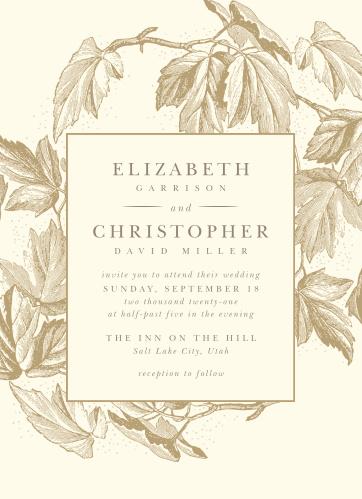 Wedding invitations match your color style free vintage autumn wedding invitations stopboris Gallery