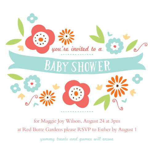 Invite your friends to come celebrate your newest addition!