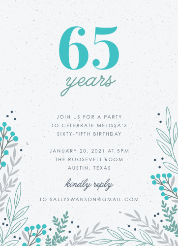 Our In the Garden Milestone Birthday Party Invitations will have your friends and family excited to celebrate your biggest birthday yet.