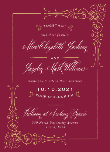 Our Royal Fairytale Wedding Invitations have everything you need to compliment your happily ever after wedding.