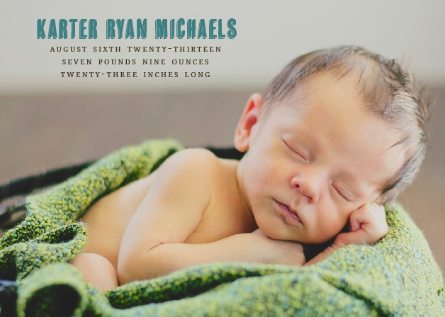 Get the world excited for your bundle of joy! This beautiful birth announcement is just what you've been looking for! Completely customizable, too!