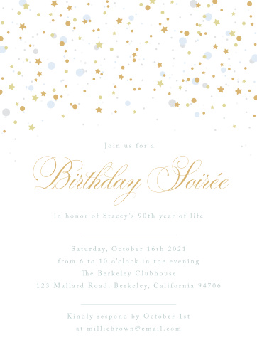 Birthday invitations birthday party invites basic invite birthday soiree milestone birthday party invitations filmwisefo