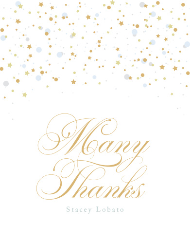Thank your friends and family for making your birthday celebration one to remember with our Birthday Soiree Milestone Birthday Thank You Cards.