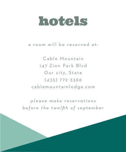 Make your guests trip as smooth as possible by sending them our clean and simple Modern Minimalist Accommodations card.