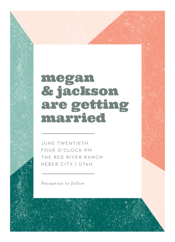 The Modern Minimalist Wedding Invitations allow you to give your event the bit of urban flair you desire.