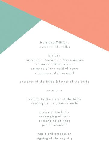 Organize and layout your wedding day with the beautiful Modern Minimalist Wedding Program.