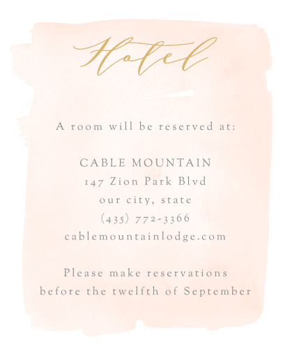 Simple Romance Accommodation Cards guarantee that your guests are as comfortable as possible in the days leading up to your wedding.