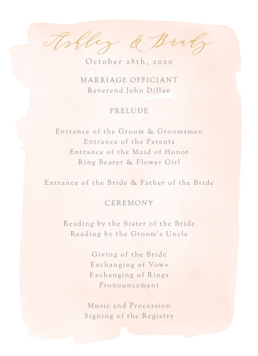 Simple Romance Wedding Programs offer a stunning guide for your guests, walking your guests through each moment and member of your ceremony as you take each step down the aisle.