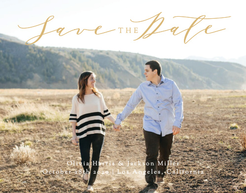 Simple Romance Save-the-Date Cards are an unforgettable way to give your guests the advance notice they need.