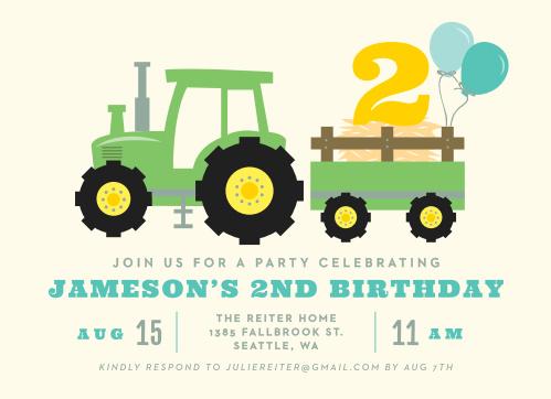 Kids birthday invitations kids birthday party invites basic invite tractor party childrens birthday party invitations filmwisefo