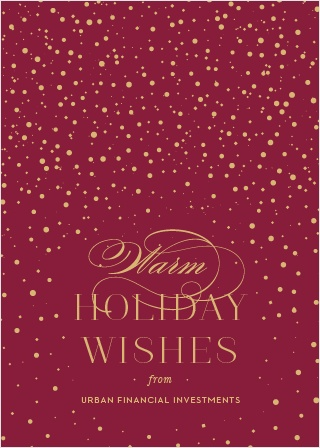 snowfall confetti corporate holiday cards - Holiday Card Design