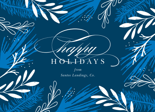 Business corporate holiday cards easy to design basic invite winter pine corporate holiday cards m4hsunfo