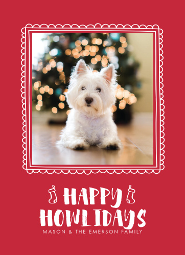happiest howlidays holiday cards - Pet Holiday Cards