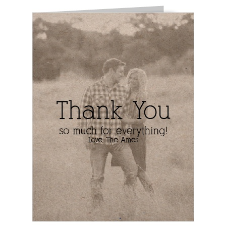 Show your gratitude in the most personal way with this fully customizable vintage feel Thank You card.