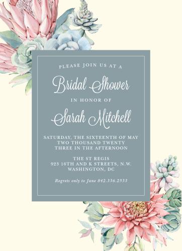 Bridal shower invitations wedding shower invitations basicinvite bohemian succulent bridal shower invitations filmwisefo