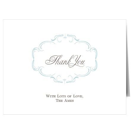 Show your gratitude in the most personal way with this fully customizable Thank You card.