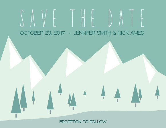 The Majestic Mountains Save-the-Date Magnet