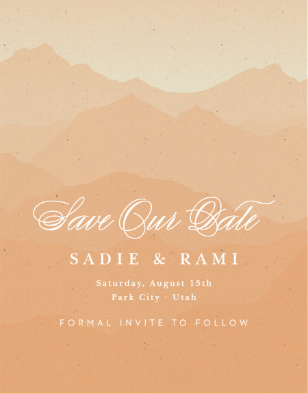 Fully customizable save the date magnet. Change the colors and fonts to match your wedding theme perfectly!
