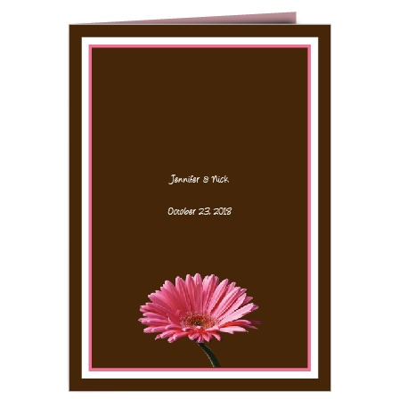 The Classic Gerber Daisy wedding programs are a perfect match to the rest of The Classic Gerber Daisy wedding suite.