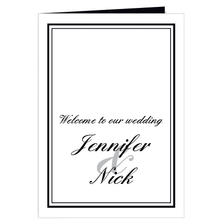 The Classic Sophistication wedding programs are a perfect match to the rest of the Classic Sophistication wedding suite.