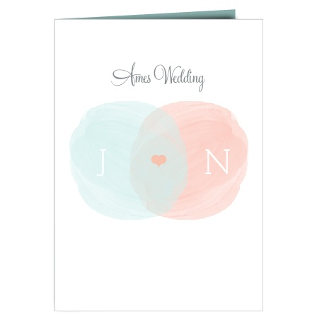 The Water Colors wedding programs are a perfect match to the rest of the Water Colors wedding suite.
