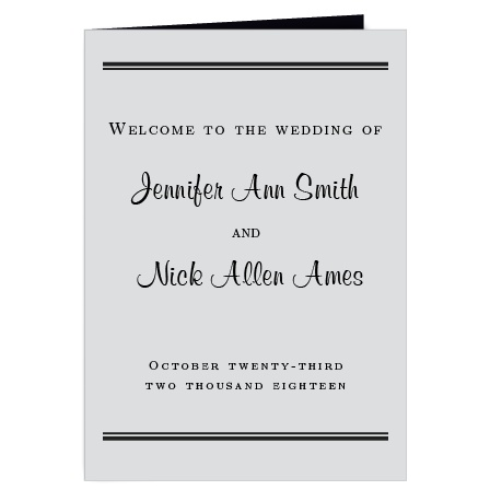 The Perfectly Personalized wedding program is a perfect match to the rest of The Perfectly Personalized wedding suite.