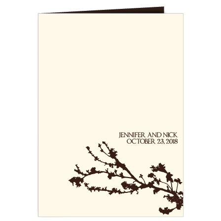 The Tree Branch Silhouette wedding program is a perfect match to the rest of The Tree Branch Silhouette wedding suite.