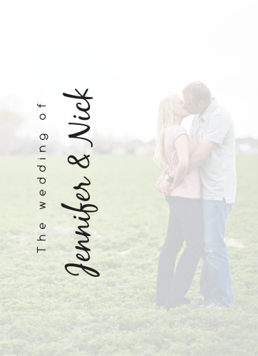 The Opaque Photo Flair wedding program is a perfect match to the rest of The Opaque Photo Flair wedding suite.