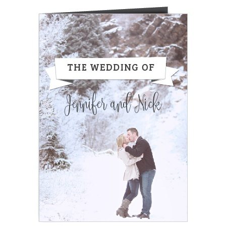 The Contemporary Banner wedding program is a perfect match to the rest of The Contemporary Banner wedding suite.