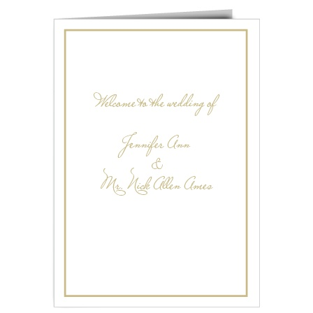 The Simple Square wedding program is a perfect match to the rest of The Simple Square wedding suite.