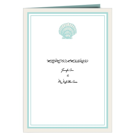 The Tiny Seashell wedding program is a perfect match to the rest of The Tiny Seashell wedding suite.