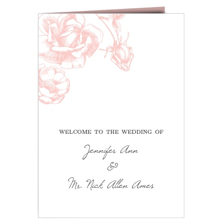 The Illustrated Rose wedding program is a perfect match to the rest of The Illustrated Rose wedding suite.
