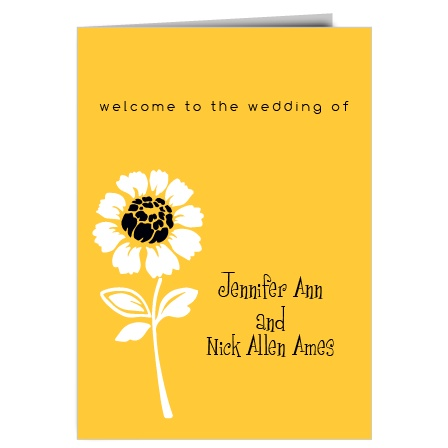 The Summer Daisy wedding program is a perfect match to the rest of The Summer Daisy wedding suite.