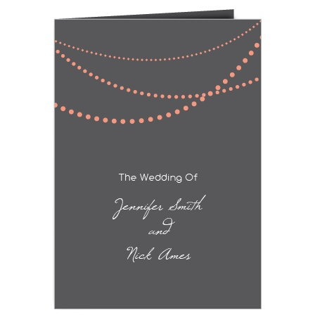 The String Lights wedding program is a perfect match to the rest of The String Lights wedding suite.