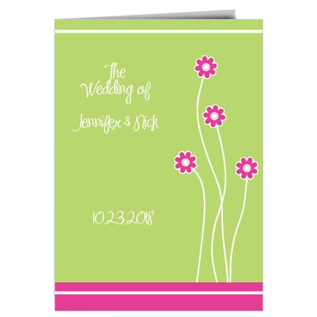 The Tiny Daisies wedding program is a perfect match to the rest of The Tiny Daisies wedding suite.