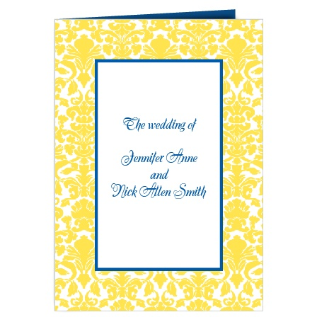 The Damask Border wedding program is a perfect match to the rest of The Damask Border wedding suite.