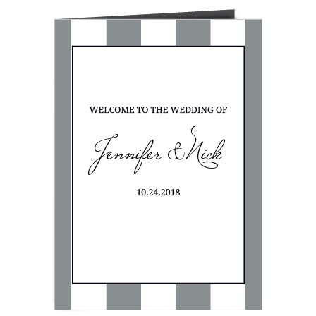 The Elegant Stripes wedding program is a perfect match to the rest of the Elegant Stripes wedding suite.