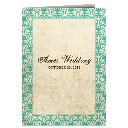 The Old World Vintage wedding programs are a perfect match to the rest of the Old World Vintage wedding suite.